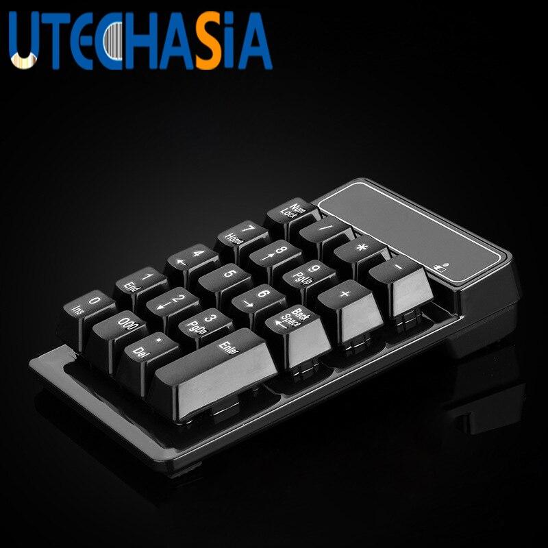 2.4 г Беспроводной подвеска цифровой клавиатуры Механическая Feel 19 ключ Mute мини-клавиатура для настольных ноутбука Таблица кассе и т. д.