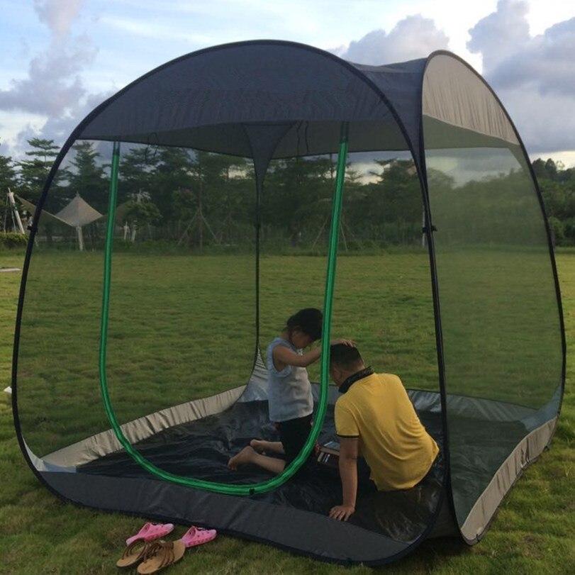 Ultra-léger extérieur moustiquaire jardin tente abri soleil été 6-10 personnes respirant gaze tente Anti moustique tente