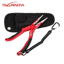 TSURINOYA Aluminum Alloy Fishing Pliers Multi-purpose Split Ring Cutters Fishing Holder Tackle 19cm Hooks Remover Tool Pesca 8 fishing pliers aluminum saltwater split ring stainless steel terminal tackle