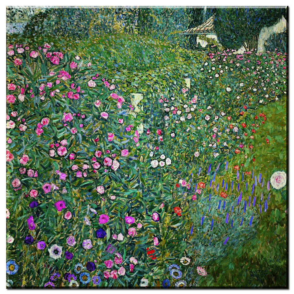 us $8.21 17% off zz745 2017 modular pictures gustav klimt flower garden  print painting abstract canvas art home decoration picture wall pictures  -in