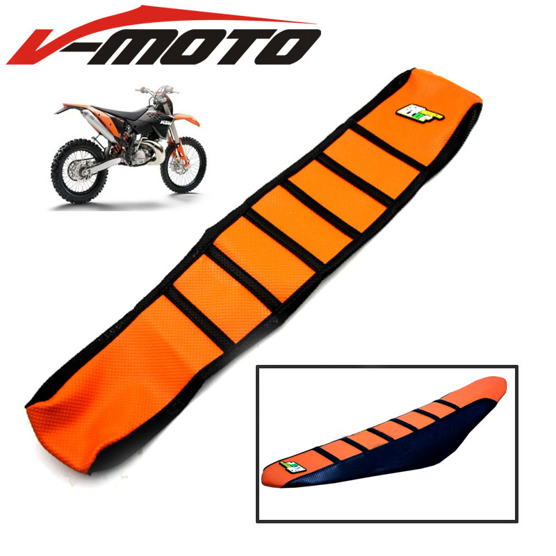 For KTM SX XC EXC XC-W SX-F 85 105 125 150 200 250 300 350 450 Rubber Striped Motorcycle Soft-Grip Gripper Soft Seat Cover