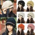 Hot Women's Fashion Autumn Winter Warm Baggy Beanie Knit Crochet Ski Hat Hedging cap Retail/Wholesale 5BQ3 7EOK