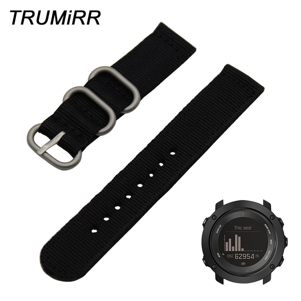 Nylon Watchband + Tool for Suunto Ambit 3 Vertical / Spartan Sport HR Watch Band Steel Buckle Strap Zulu Wrist Bracelet Black nylon watchband tool for suunto ambit 3 vertical spartan sport hr watch band steel buckle strap zulu wrist bracelet black