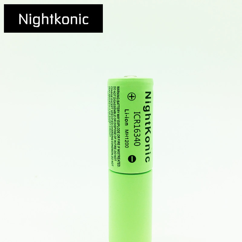 ICR 16340 Battery High Quality Original New Nightkonic 3 7V Li ion Rechargeable Battery for flashlight camera in Replacement Batteries from Consumer Electronics