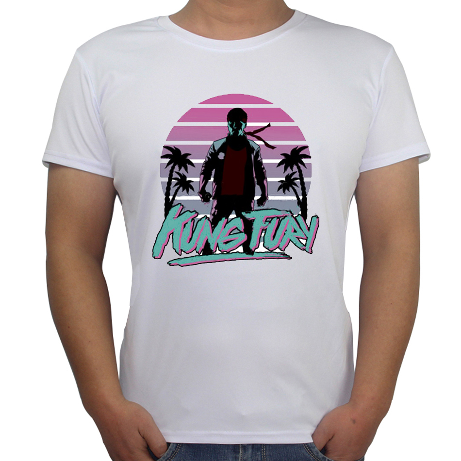 Design your own t-shirt miami - New Arrivals T Shirts Men 39 S Fashion Funny Kung Fury T Shirt