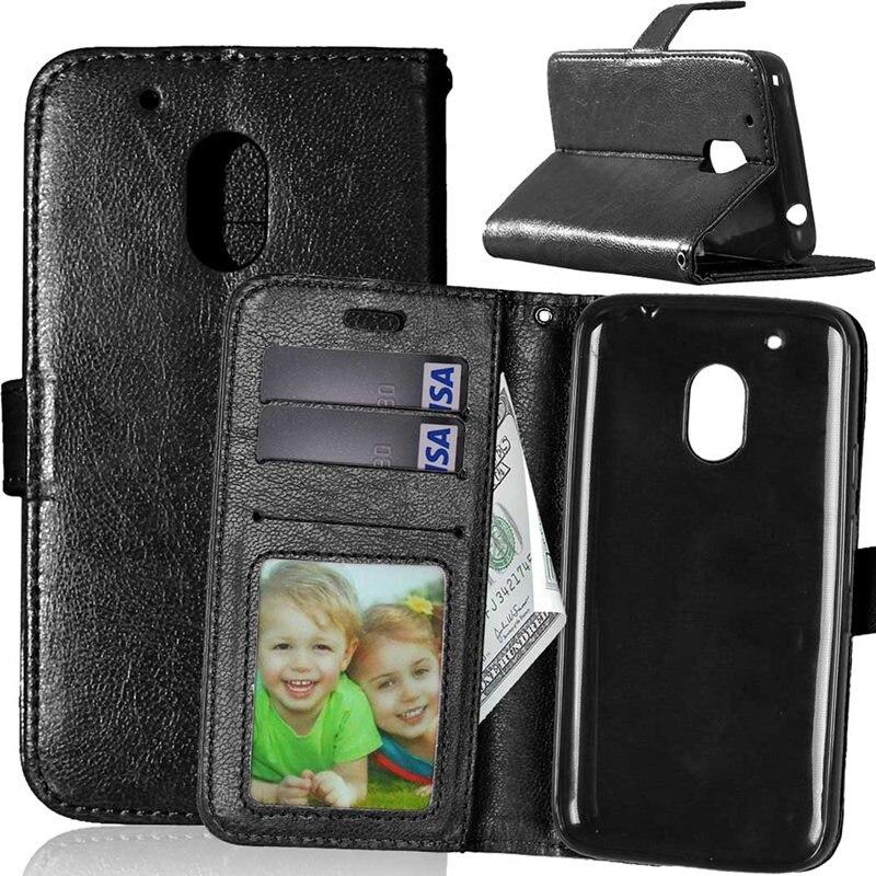9b0508a150 Para Motorola Moto G4 hebilla magnética Flip stand pu cubierta de cuero de  la cartera para Motorola Moto G4 más G4Plus caso 5.5 pulgadas
