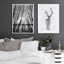 CV Forest Canvas Art Print Painting Poster BW001