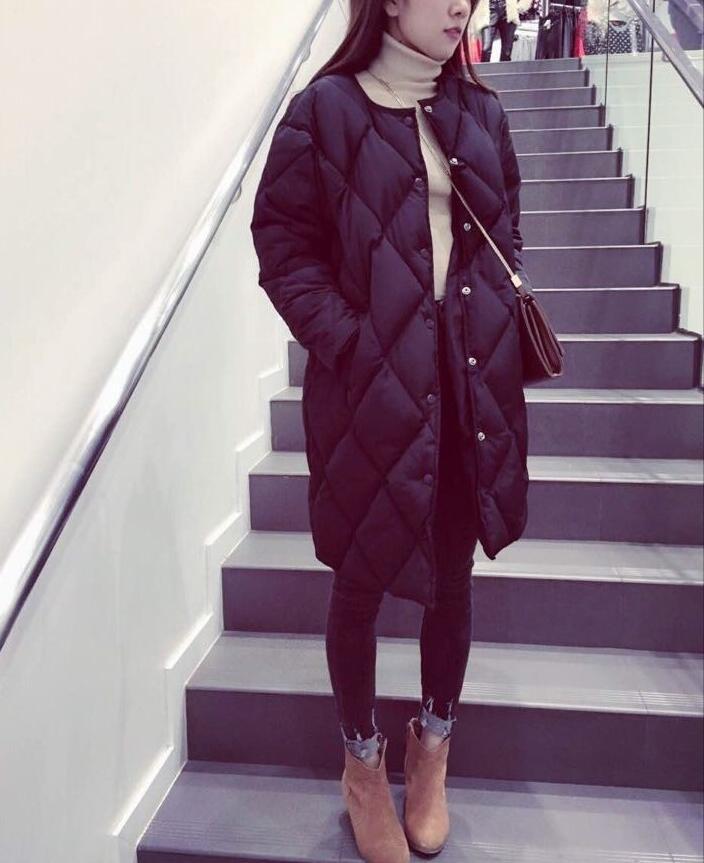 Women s Cotton padded Jacket New Winter Medium long Down Cotton Parkas Plus Size Coat Female