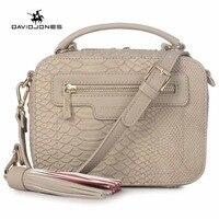 DAVIDJONES Women Crossbody Bags Designer Bags High Quality PU Serpentine Envelope Vintage Crossbody Shoulder Bag Top