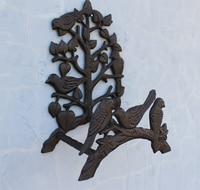 Hose Holder Cast Iron Birds On Tree Garden Hose Hanger Storage Rack Decorative Hose Reel Stand Ornate Wall Mounted Vintage Metal