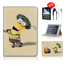 Kevin Minion Play Golf Magnetic Sleep Mode Pill Equipment Good Case For Ipad Case For Apple Ipad Mini Case Free Earphone