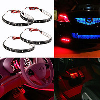 10 X Waterproof 30cm SMD 3528 15 LED Flexible Car Strip Light Bulb Car And Motorcycle