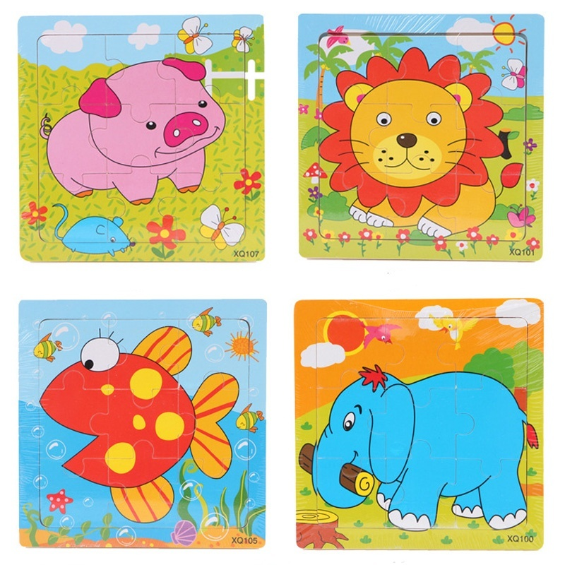 2 pcs enfants en bas âge jouet éducatif cadeau animaux de dessin - Jeux et casse-tête - Photo 5