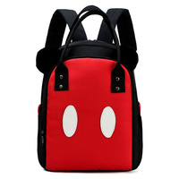 Cartoon Baby Diaper Bags New Fashion red Mummy Backpack Baby Nappy Bags Waterproof Mother Travel bag