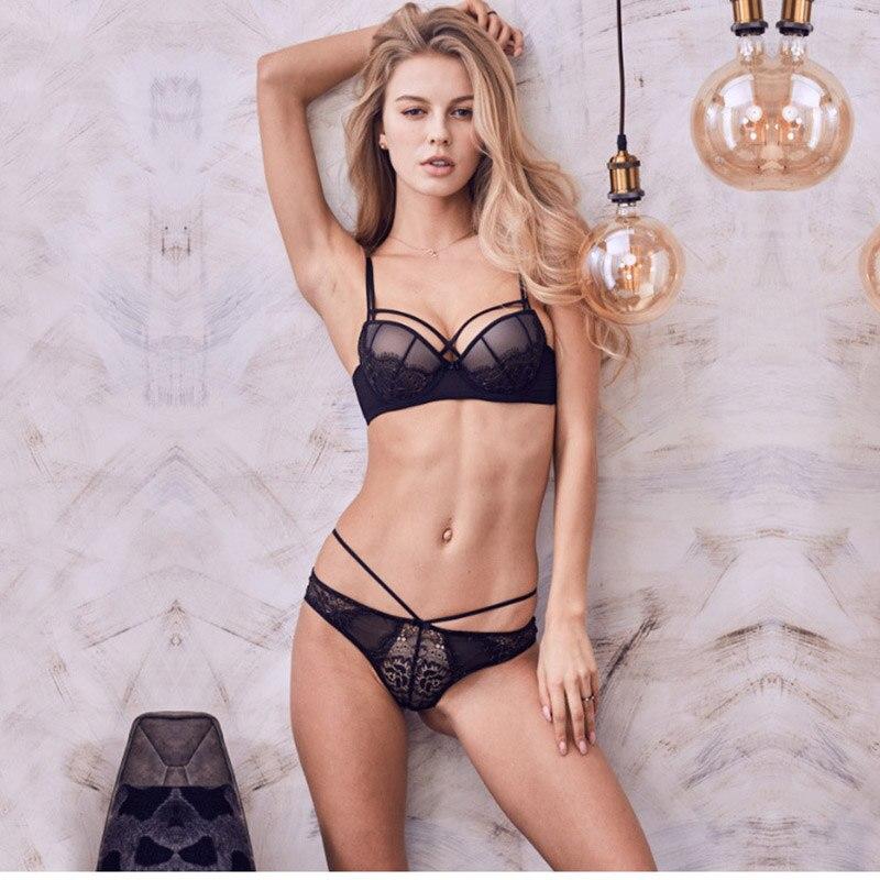 Women's Intimates Logical 2018 New Sexy Lace Lingerie Bra Set Push Up Bras Set For Women Lingerie Bandage Belt Bra Sheer Lace Sleepwear