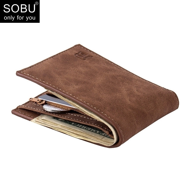 2018 New Men Wallets Small Money Purses Wallets New Design Dollar Price Top Men Thin Wallet With Coin Bag Zipper Wallet L027 ...