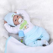 Classic 22 inch 55cm Silicone Dolls Reborn With Soft Real Cotton Made Outsuit Best Bebe Brinquedo For Early Educational Children