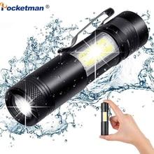 3800LM XML-Q5+COB LED Flashlight Portable Super Bright Adjustable torch Use AA 1