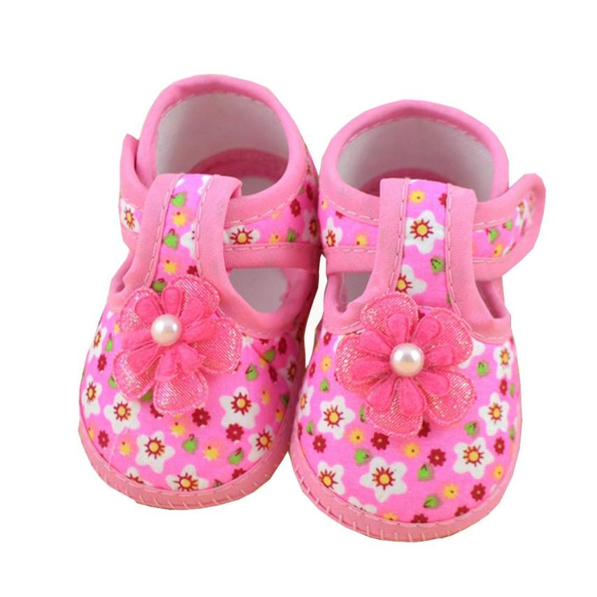 2017 spring soft sole girl baby shoes cotton first walkers