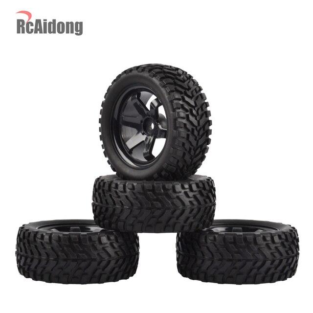1:10 RC Rally Autobanden Rubber banden & Velgen voor Tamiya HSP HPI Kyosho 4WD 1:10 1:16 RC Op road Auto