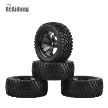 1:10 RC Rally Car Tires Rubber tires & Wheel Rims  for Tamiya HSP HPI Kyosho 4WD 1:16 On Road