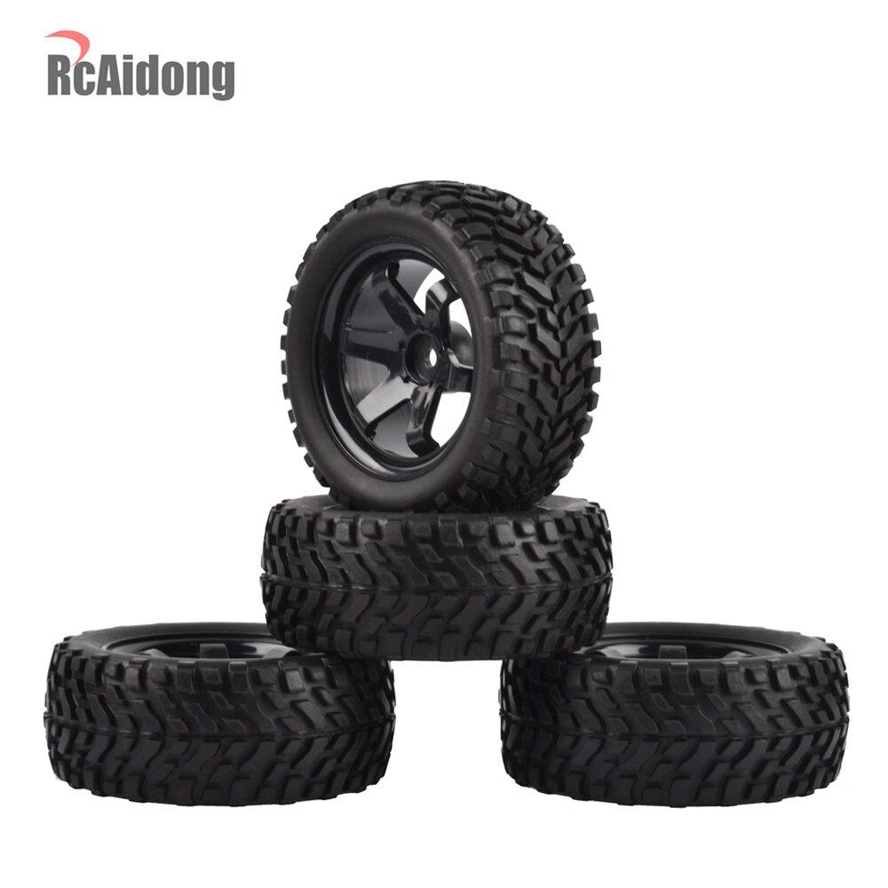 1:10 RC coche de Rally neumáticos y llantas para Tamiya HSP HPI Kyosho 4WD 1:10 1:16 RC en coche de carretera