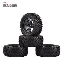 1:10 rc rali pneus de carro pneus de borracha & jantes de roda para tamiya hsp hpi kyosho 4wd 1:10 1:16 rc no carro de estrada