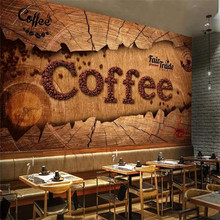 Custom 3d wallpaper European retro vintage coffee mural advanced waterproof material