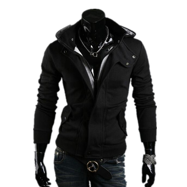 Hoodies Men Sudaderas Hombre Hip Hop Mens Brand Casual Collar Hooded Zipper Hoodie Sweatshirt Slim Fit Men Hoody 3XL