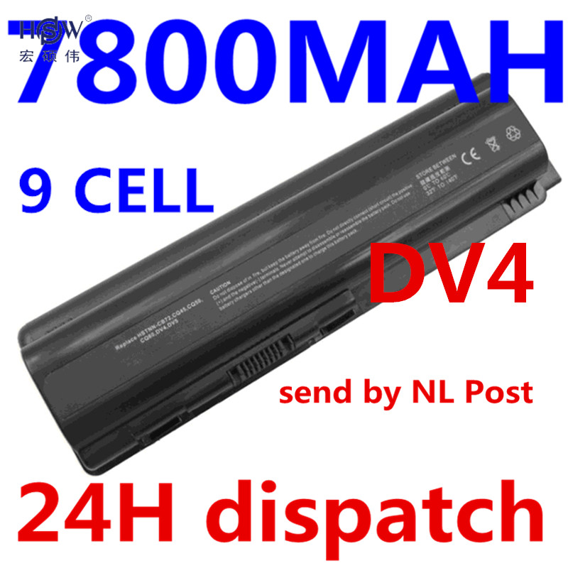 HSW Laptop Battery for HP Pavilion DV4 DV5 DV6 G71 G50 G60 G61 G70 For Compaq Presario CQ50 CQ71 CQ70 CQ61 CQ60 CQ45 CQ41 CQ40 aqjg 18 5v 3 5a 65w laptop notebook power charger adapter for hp pavilion g6 g56 cq60 dv6 g50 g60 g61 g62 g70 g71 g72