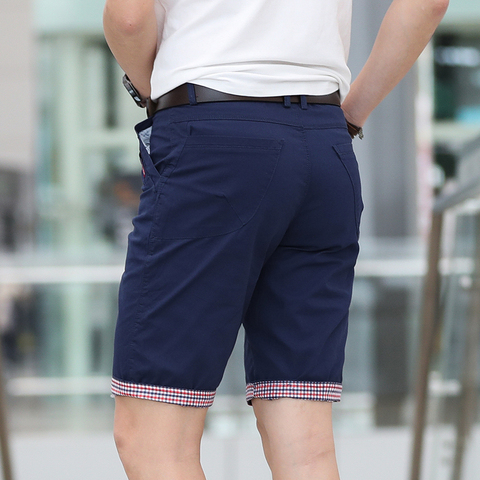 Solid Shorts Men Plaid Ruched Hem Short Male Fashion Shorts Plus Size Summer Mens Shorts Cotton Casual Brand Style marque homme Lahore