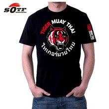 fc554195fb SOTF Tigre Camisolas mma muay thai Boxing camisa camisa short de boxe mma  muay thai sanda muay roupas singlets de wrestling