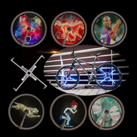 New Arrival Bicycle Wheel Light Double Display LED GIF Photo Spokes Light DIY Patterns RGB Download