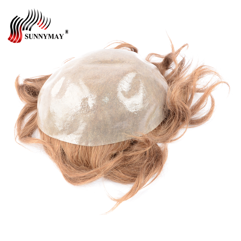 Sunnymay, men toupee super thin skin Vloop NG , hair repalacemnt ,PAPY 17R Color hair pi ...
