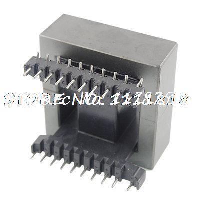 EE55 EE Type Transformer Ferrite Magnetic Core Coil Former 20sets lot ee16 pc40 ferrite magnetic core and 5 pins 5 pins side entry plastic bobbin customize voltage transformer