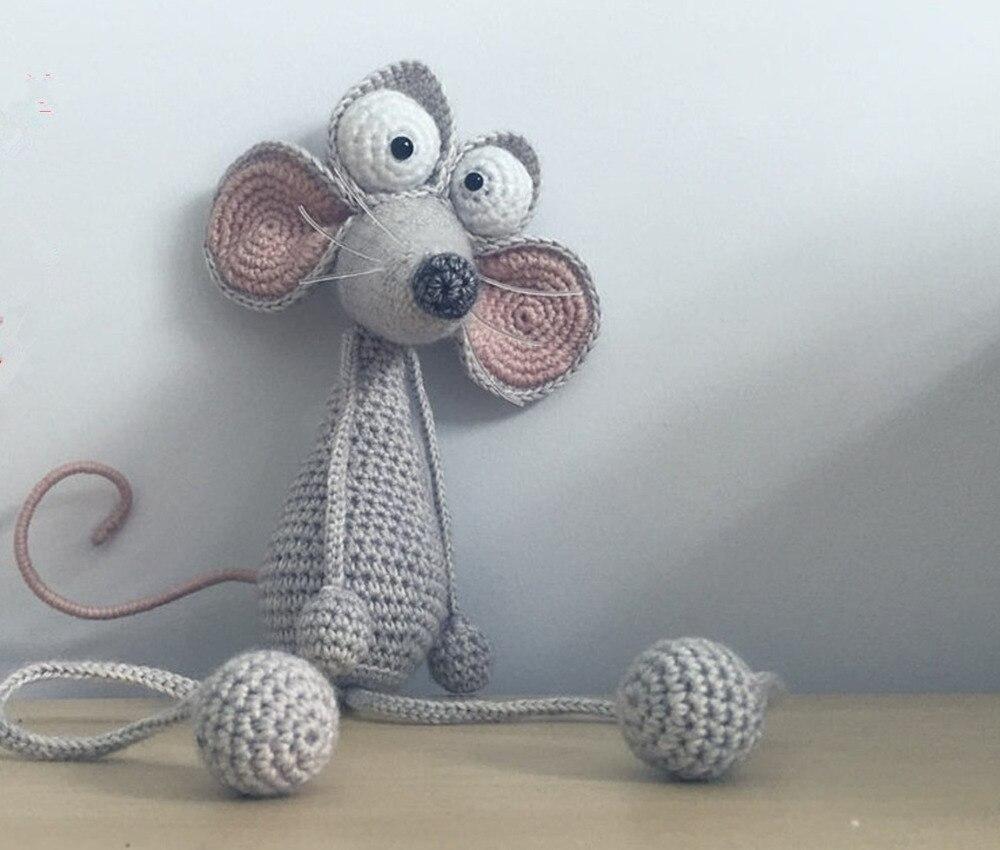 Crochet Toys  Amigurumi  Handmade    Rattle Mouse   Number  JSZ002