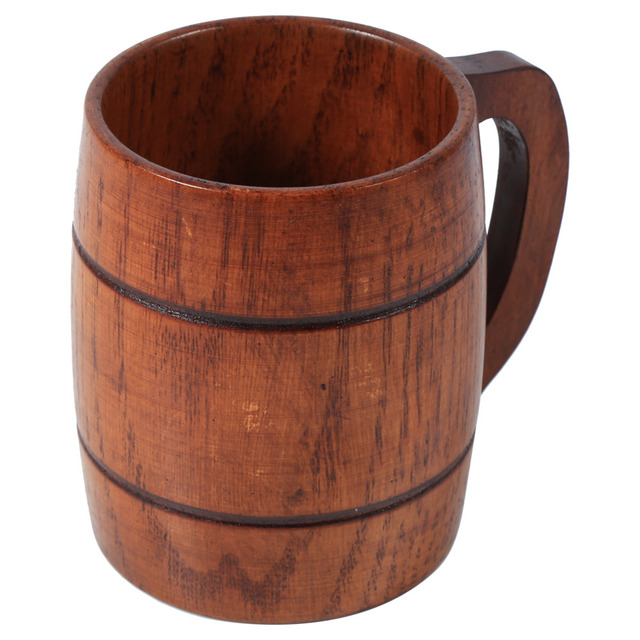 350 ml Wooden Beer Heatproof Mug