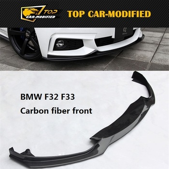 Free shipping Carbon Fiber Front Bumper Lip for BMW F32 F33(420 435i 428i) for 2014-2015 image