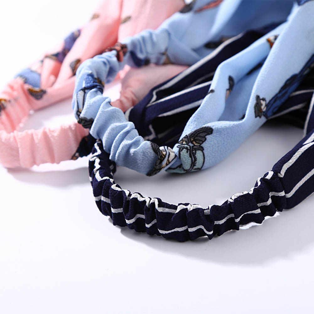 Mode Plaid noeud bandeau Turban élastique bandeau tête enveloppement cheveux accessoires pour femmes filles rayé chapeaux accessoires