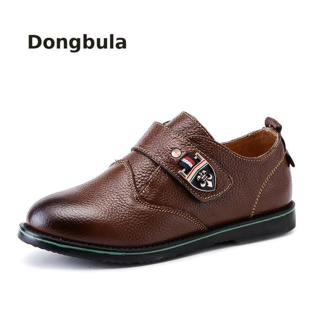 2019kids Genuine Leather Shoes for Boys School Leather Classic Wedding Shoe Brand Children Oxford Dress Banquet Rubber Moccasins