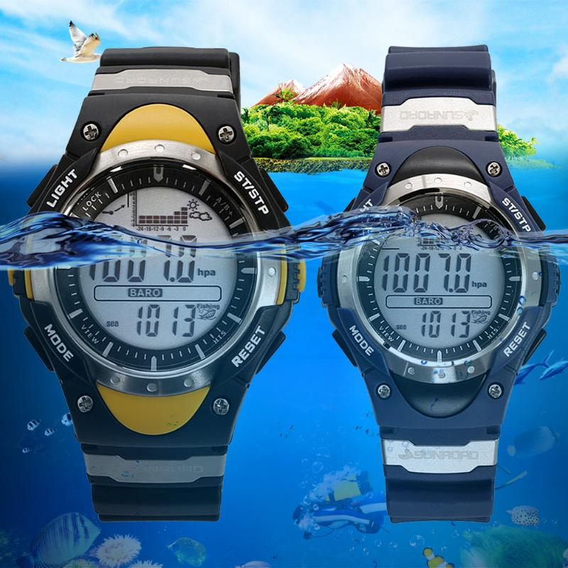 Men Digital Watch Waterproof Male Watch Outdoor Fishing Altimeter Barometer Thermometer Altitude Watch relogio masculino Clock