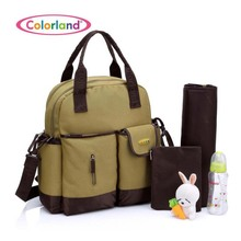 Colorland brand large-capacity fashion Mummy bag shoulder slung single multi-function waterproof baby diaper se
