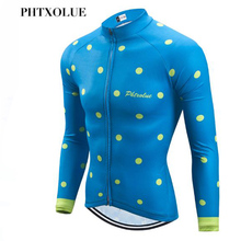 цена на Phtxolue Winter Cycling Jersey Long Sleeve Racing Bike Clothes Thermal Fleece Ropa Roupa Invierno MTB Bicycle Clothing Jersey