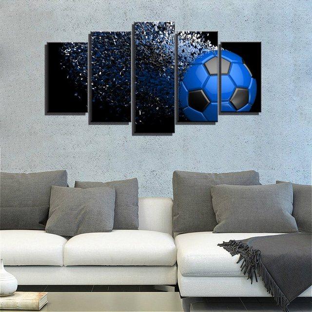 Soccer Artwork Waterproof Giclee Print Football Sport Wall Art ...