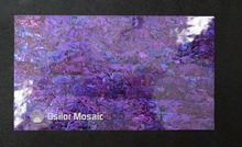 Dyed purple color mother of pearl shell laminate for musical instrument and furniture inlay
