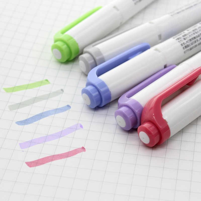 Zebra MILDLINER Markeerstift Set Hoge Kwaliteit Dubbele Kop Textmarker School Markers 5 Kleuren WKT7 (5C RC NC)