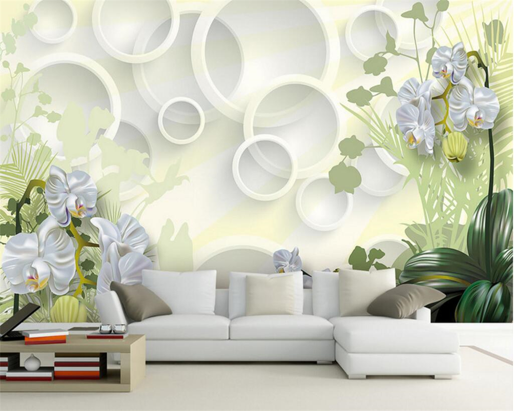 living drawing wallpapers flower beibehang paper walls murals tekening clivia mural behang voor papel muurschildering bloem woonkamer muren blauw grote