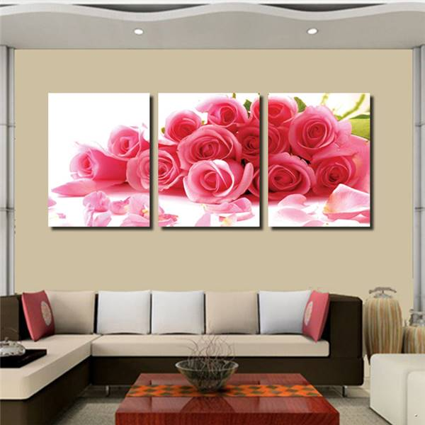 2016 Real Limited Cuadros 3 Piece Canvas Wall Romantic Roses Ben Marilyn Monroe Home Decor Map Lotus Decoration Metal Art Boat