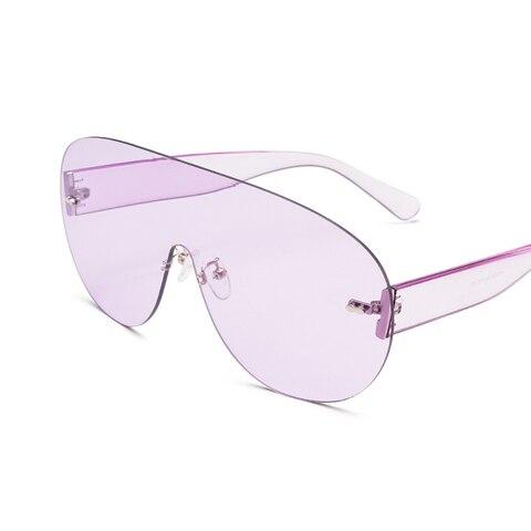 Oversized Shield Visor Sunglasses Women Large Size Sunglasses Men Transparent Frame Vintage Big Windproof Retro Top Hood Glasses Karachi