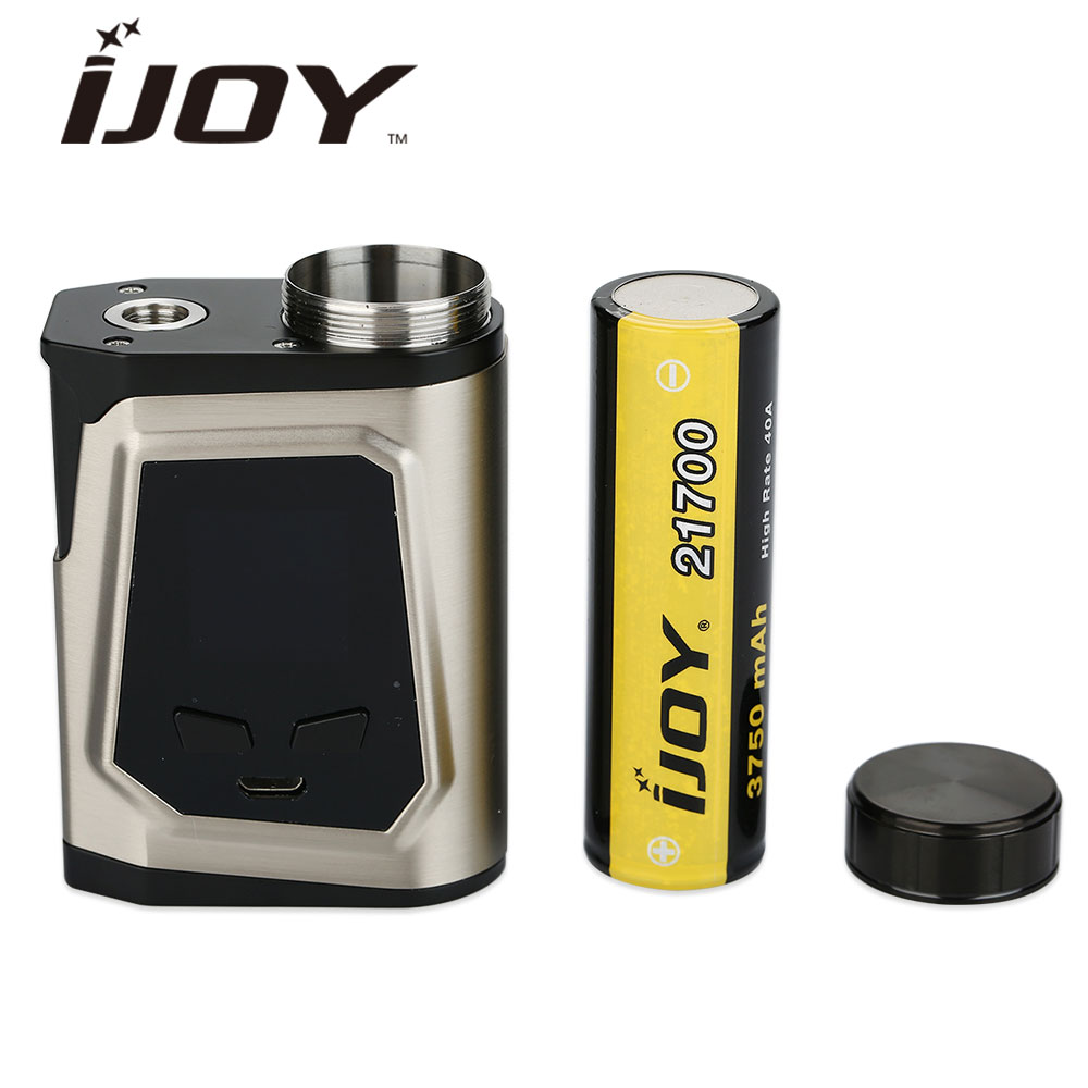 Original 100W IJOY CAPO 100 21700 Box MOD 3750mAh 21700 Battery 100W Output Big Fire Button Upgradeable IJOY Capo 100 Mod